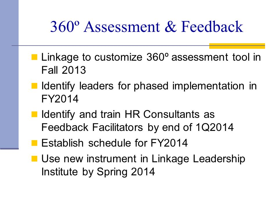 360º Assessment & Feedback