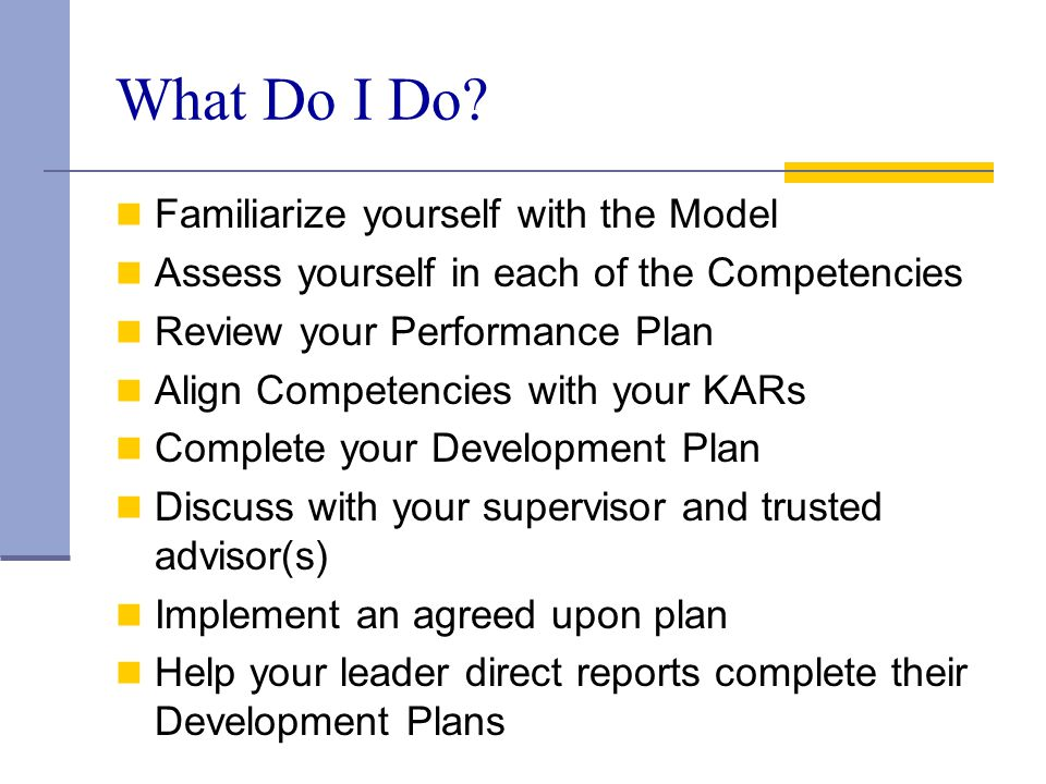 What Do I Do Familiarize yourself with the Model