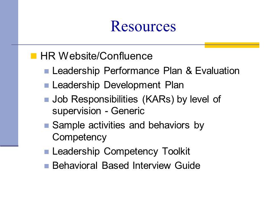 Resources HR Website/Confluence
