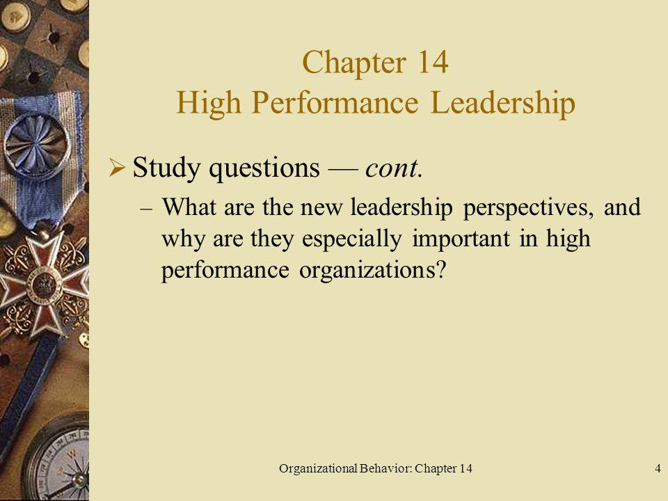 Chapter 14 High Performance Leadership