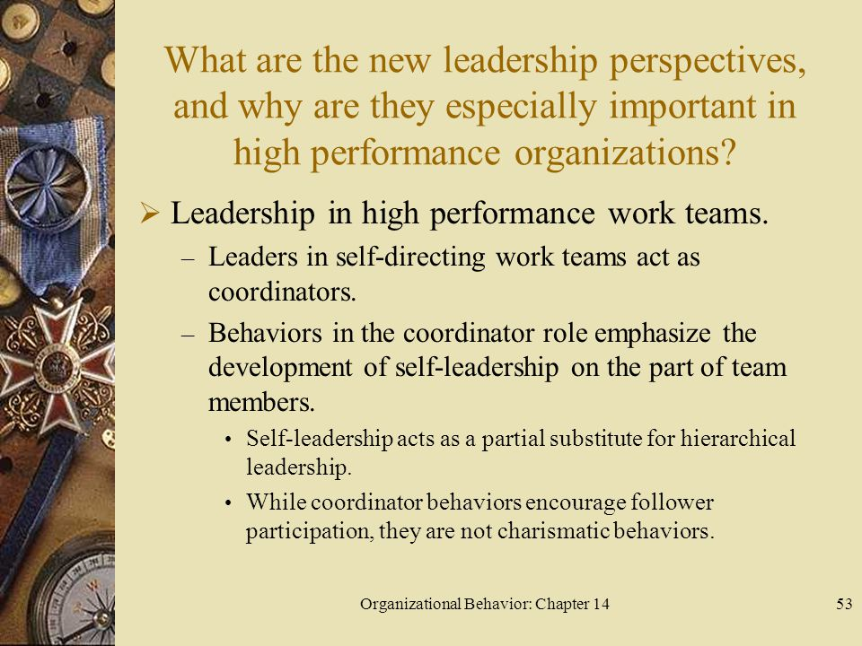 organizational behaviour high performance team Utilization of work teams is now widespread in all types of organizations  throughout the world  high performance teams, teams, organizational  behavior.