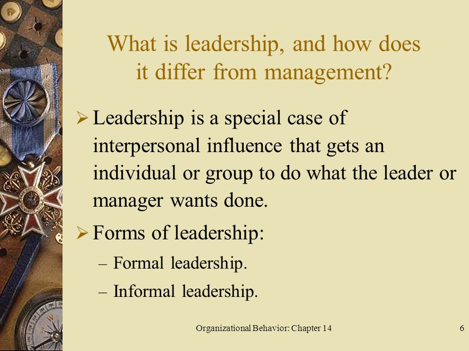 What is leadership, and how does it differ from management