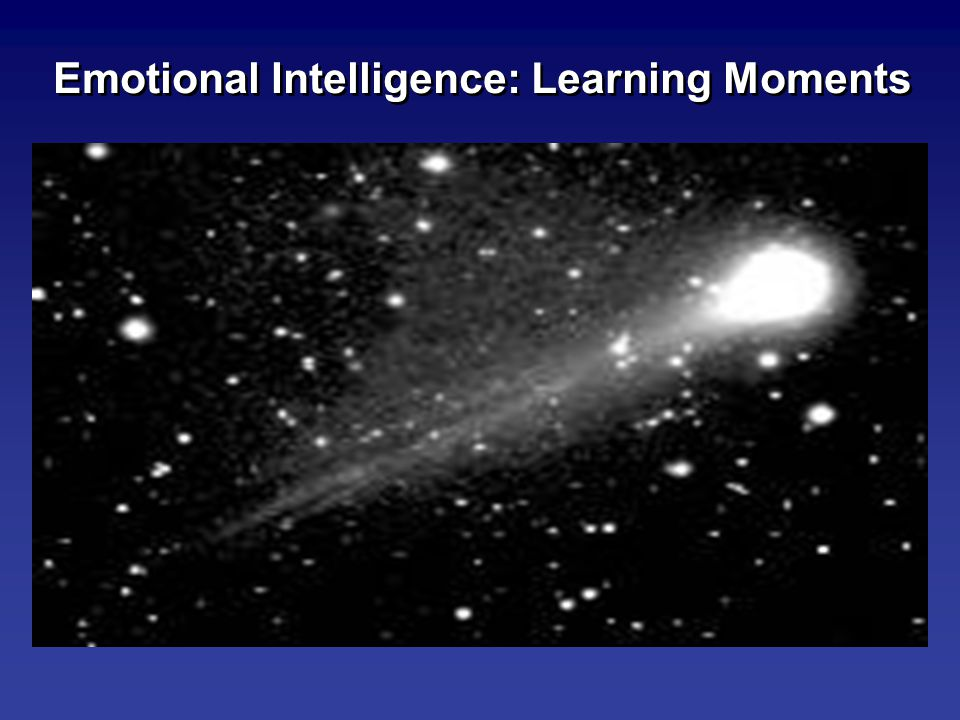 Emotional Intelligence: Learning Moments