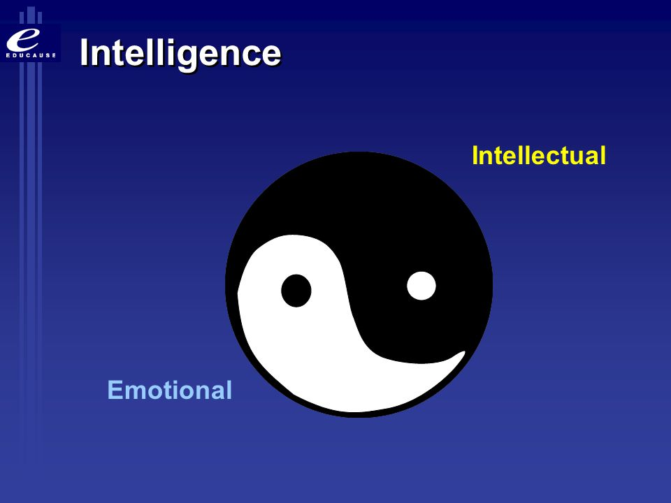 Intelligence Intellectual Emotional