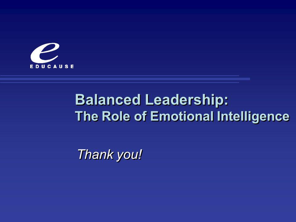 Balanced Leadership: The Role of Emotional Intelligence
