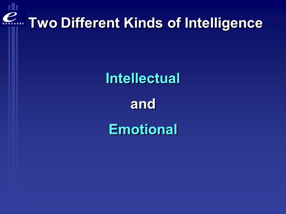 Two Different Kinds of Intelligence