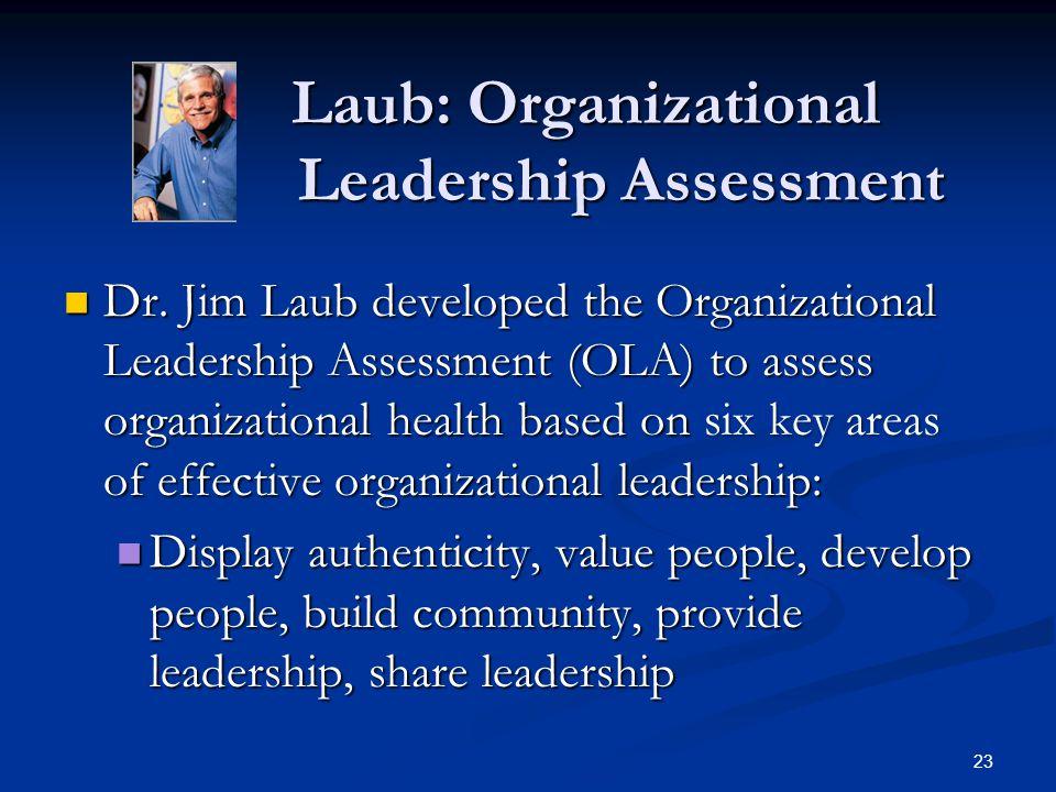 Laub: Organizational Leadership Assessment