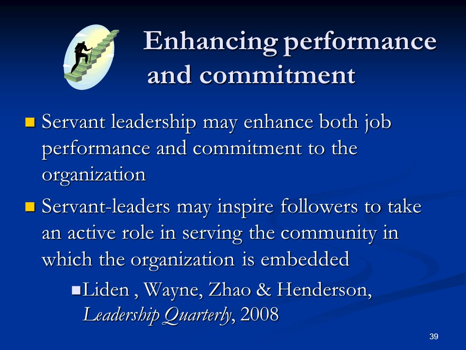 Enhancing performance and commitment