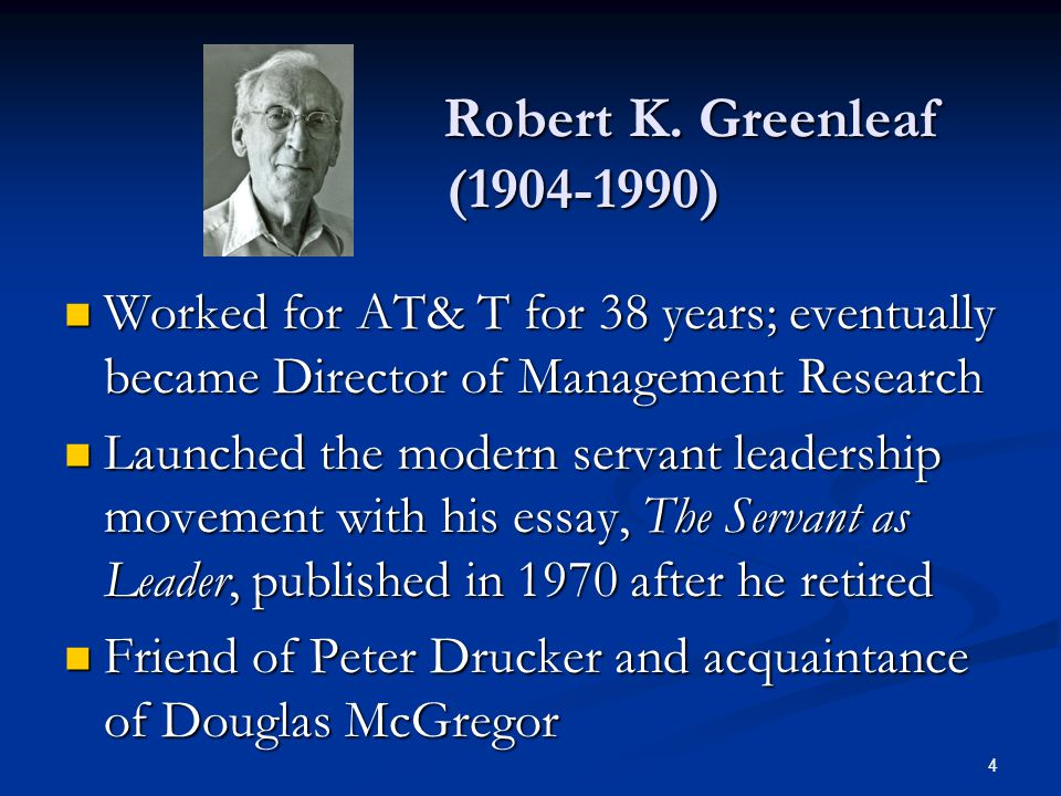 Friend of Peter Drucker and acquaintance of Douglas McGregor