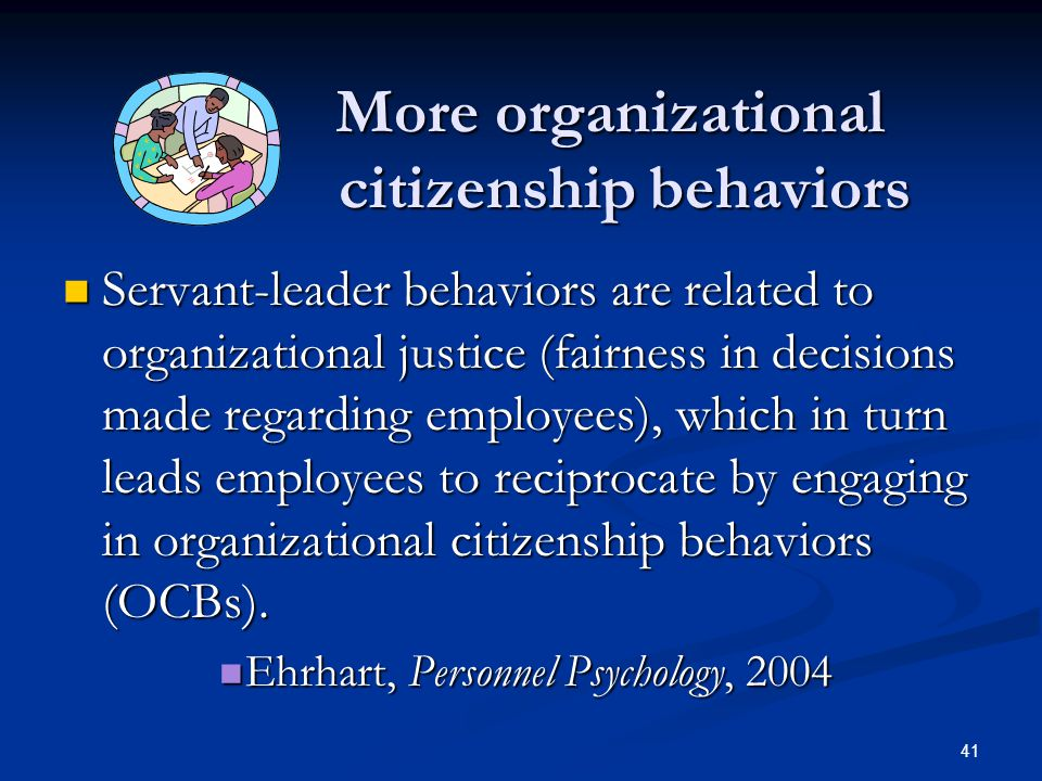 More organizational citizenship behaviors