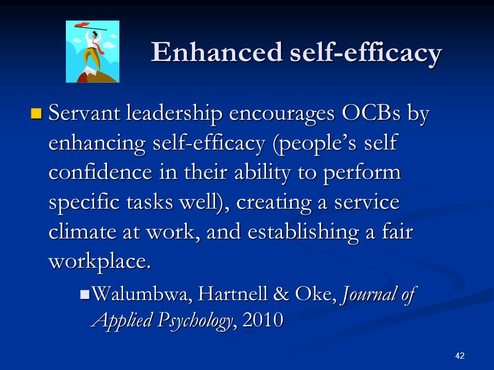 Enhanced self-efficacy