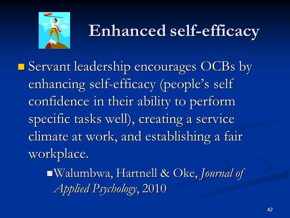 Enhanced self-efficacy