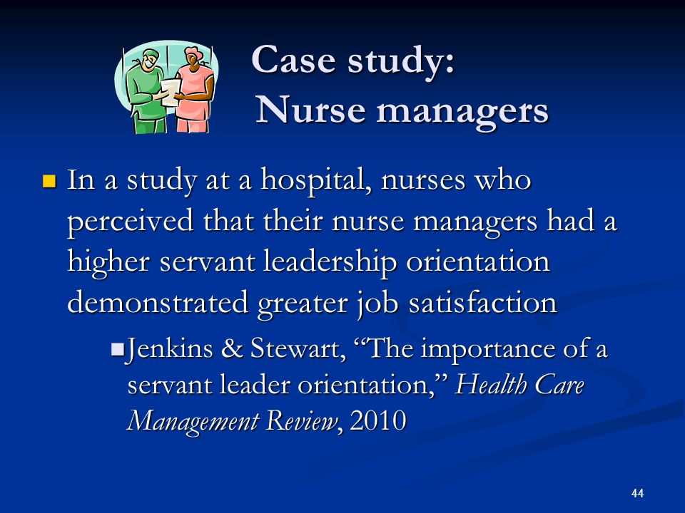 Case study: Nurse managers