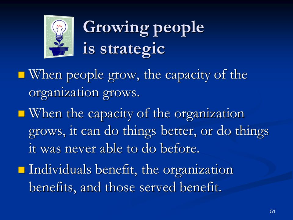 Growing people is strategic