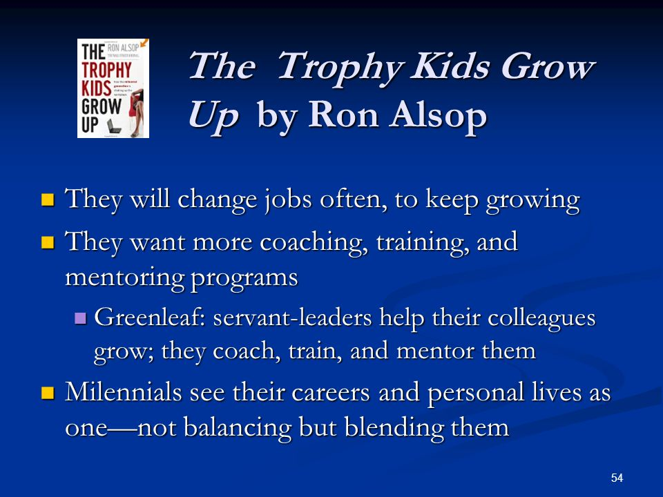 The Trophy Kids Grow Up by Ron Alsop