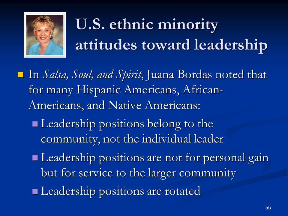 U.S. ethnic minority attitudes toward leadership