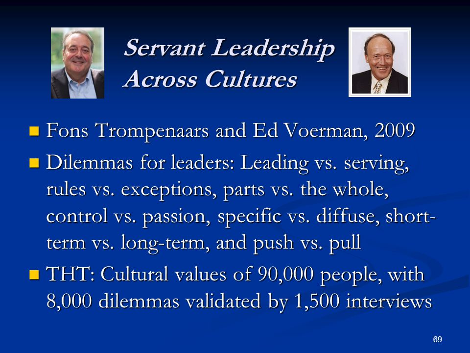 Servant Leadership Across Cultures