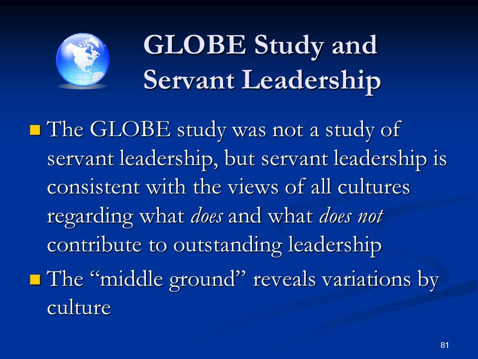 GLOBE Study and Servant Leadership