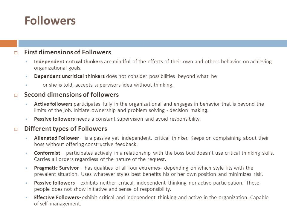 Followers First dimensions of Followers Second dimensions of followers