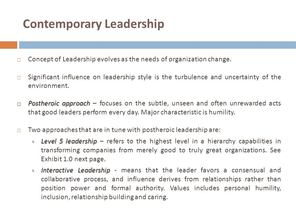 Contemporary Leadership