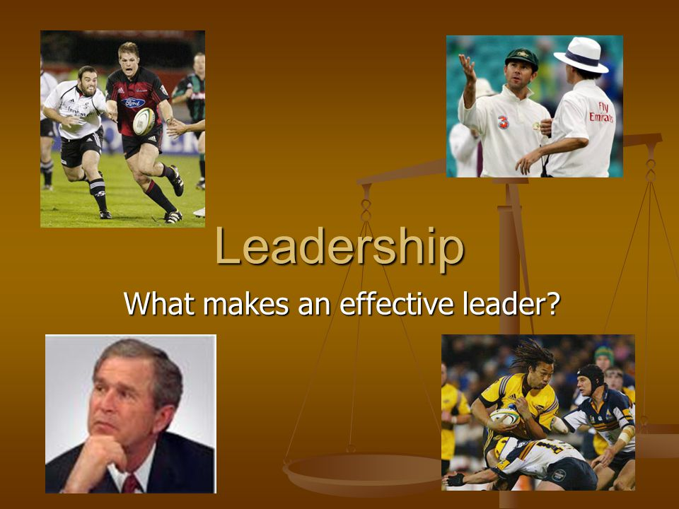 What makes an effective leader