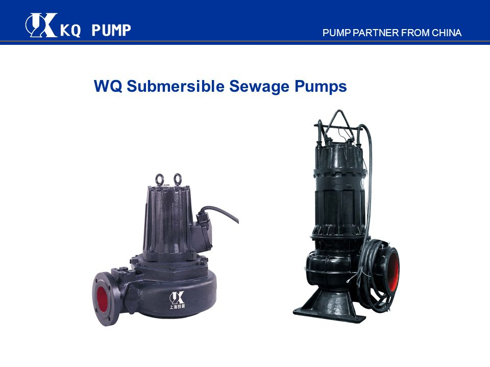 WQ Submersible Sewage Pumps