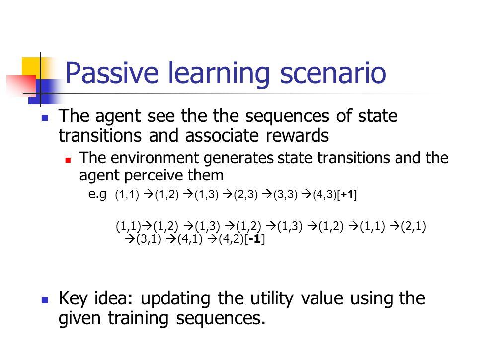 Passive learning scenario