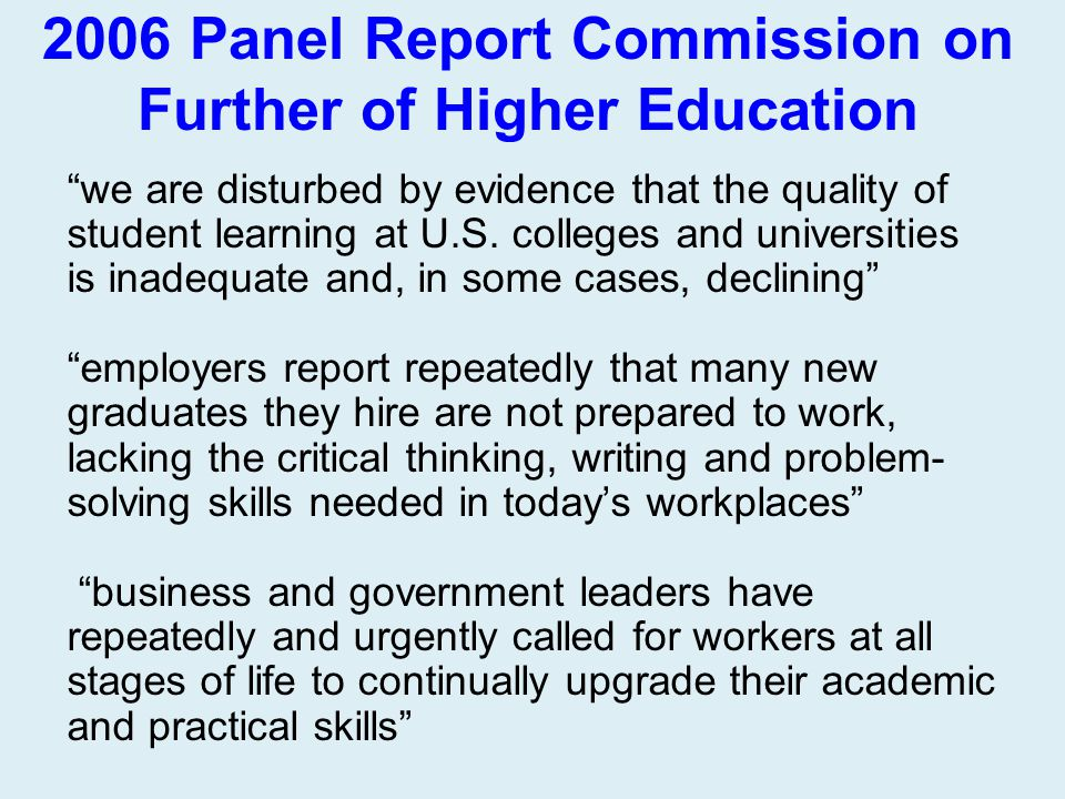 2006 Panel Report Commission on Further of Higher Education