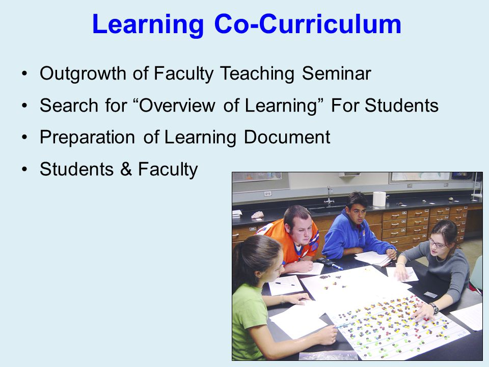 Learning Co-Curriculum