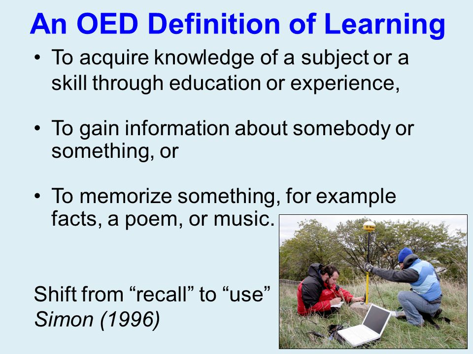 An OED Definition of Learning