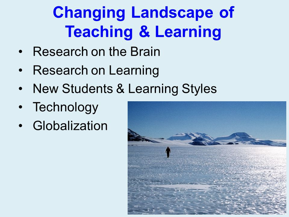 Changing Landscape of Teaching & Learning
