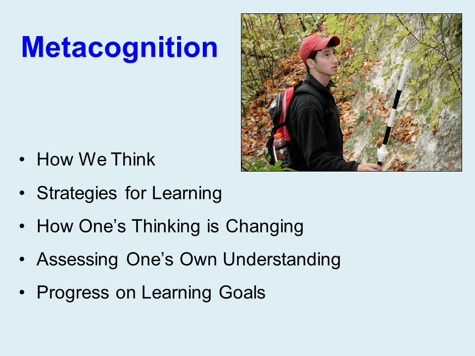 Metacognition How We Think Strategies for Learning