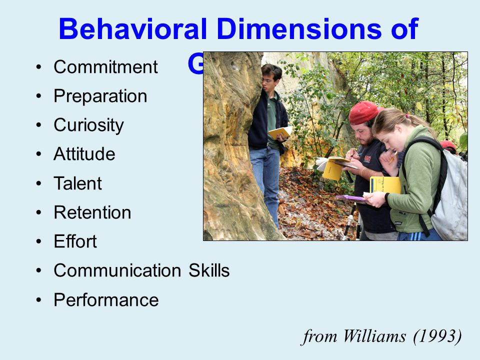 Behavioral Dimensions of Grades