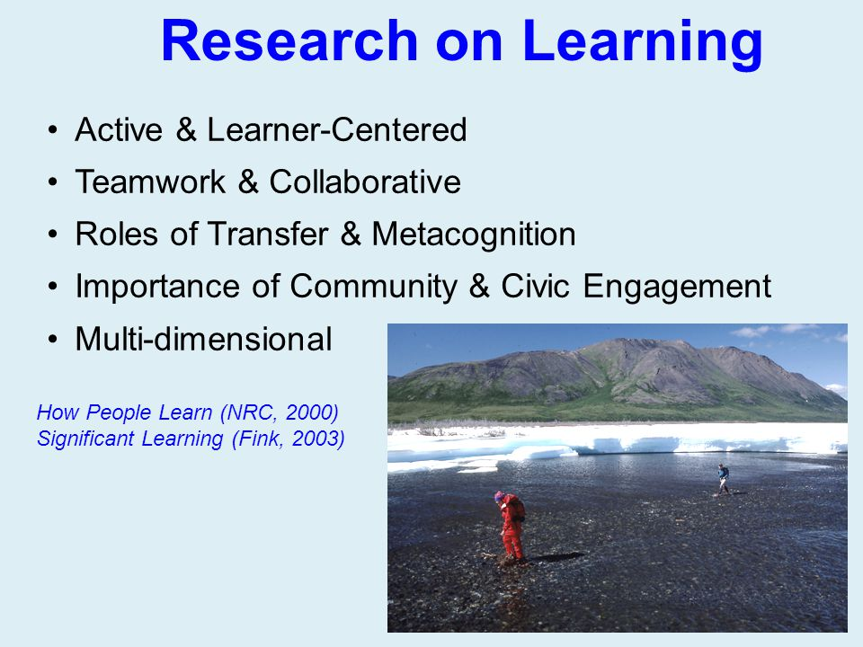 Research on Learning Active & Learner-Centered