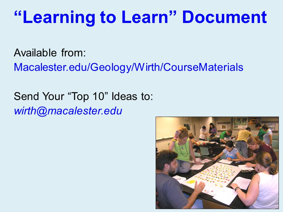 Learning to Learn Document