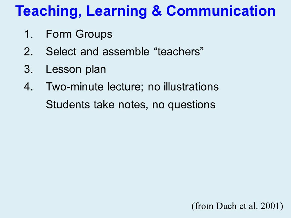 Teaching, Learning & Communication