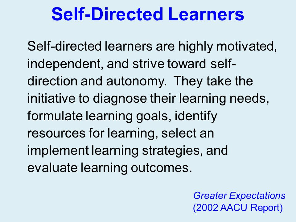 Self-Directed Learners
