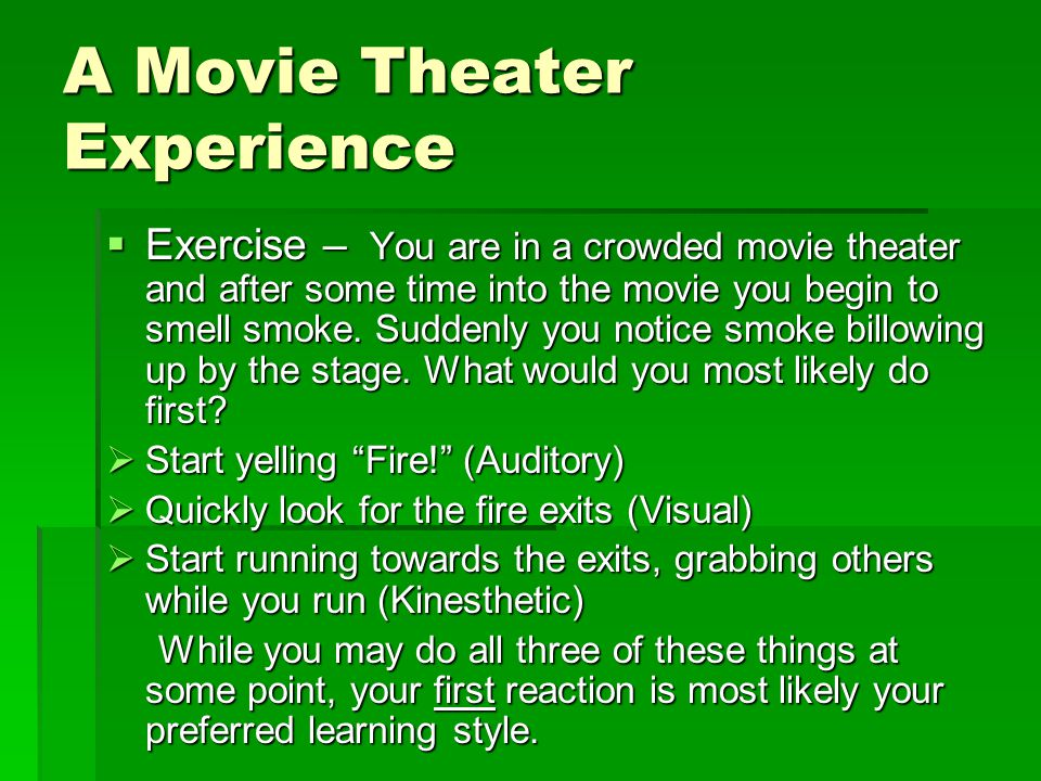 A Movie Theater Experience