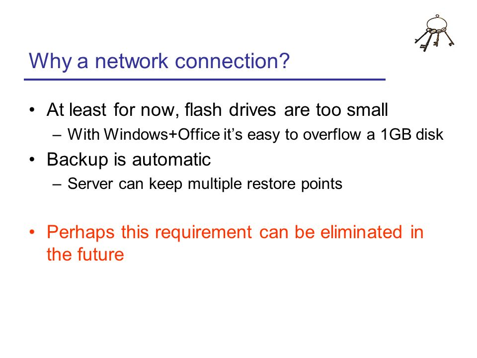 Why a network connection