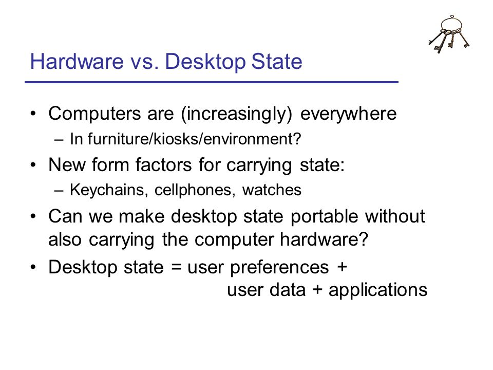 Hardware vs. Desktop State