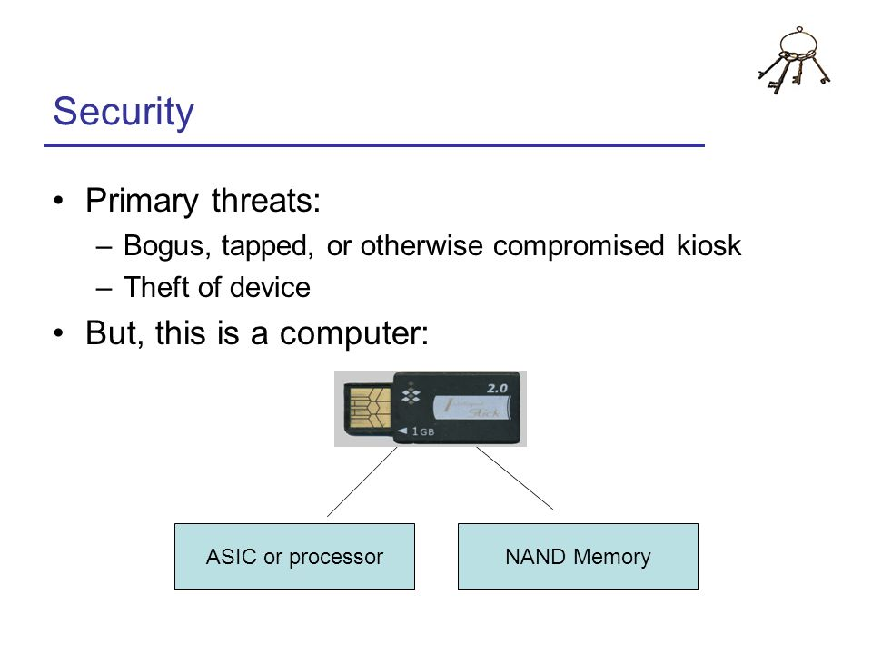 Security Primary threats: But, this is a computer:
