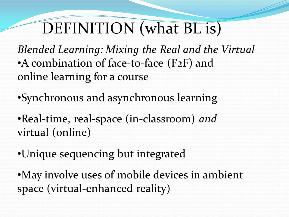 DEFINITION (what BL is)
