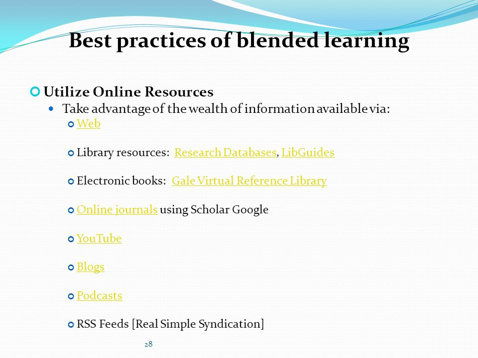 blended learning research papers [blended'learning'in'the'classroom]1 effect of blending learning on student's percent increase in assessment scores by lindsey cracraft.