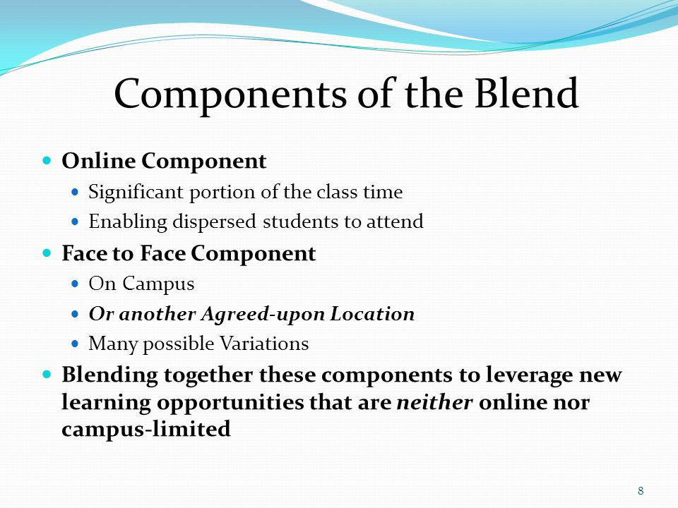 Components of the Blend