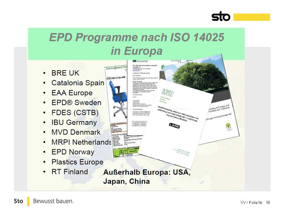 Waar vind men reeds EPD/ESD 's