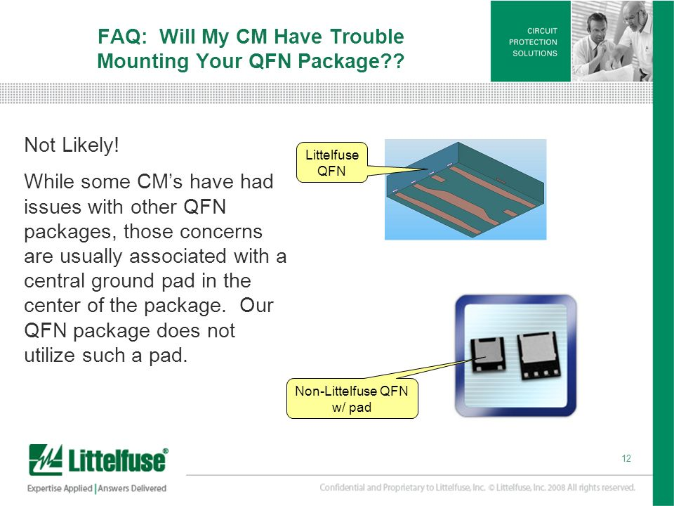FAQ: Will My CM Have Trouble Mounting Your QFN Package