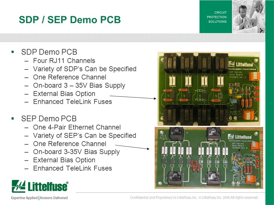 SDP / SEP Demo PCB SDP Demo PCB SEP Demo PCB Four RJ11 Channels