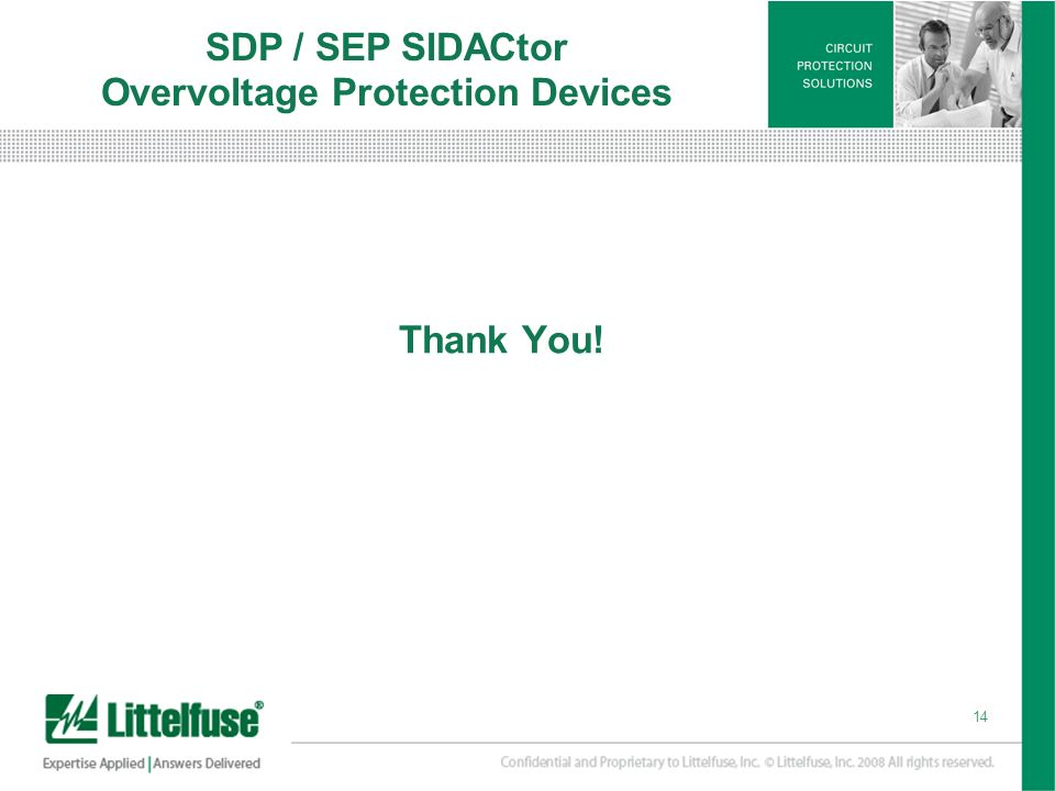 SDP / SEP SIDACtor Overvoltage Protection Devices