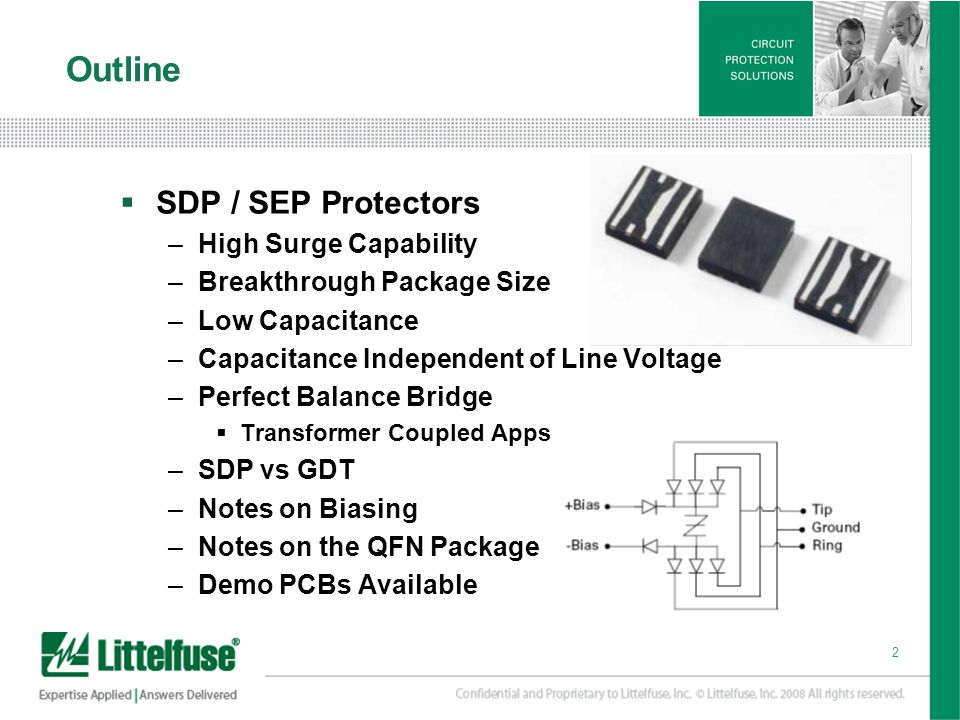 Outline SDP / SEP Protectors High Surge Capability