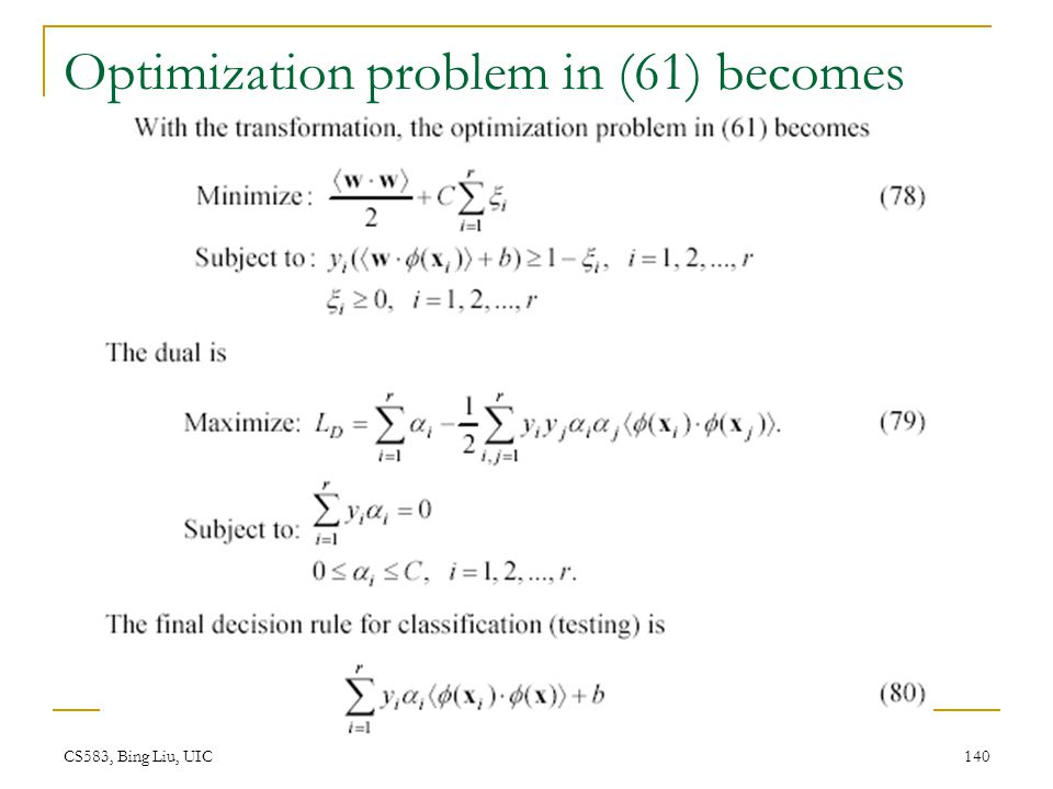 Optimization problem in (61) becomes